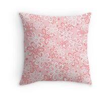 Cute pink floral pattern Throw Pillow