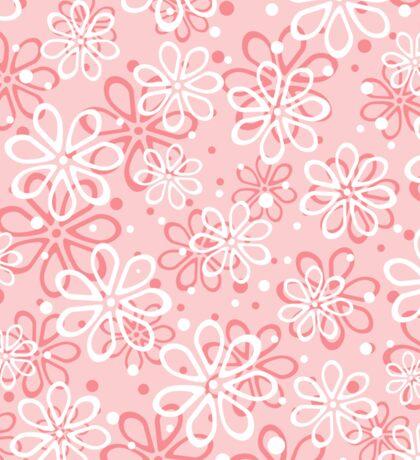 Cute pink floral pattern Sticker