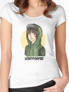LEAFYISHERE Women's Fitted Scoop T-Shirt