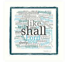 Isaiah 53 Religious Christian Typography Art Art Print