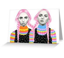 Plaited Twins Greeting Card