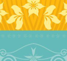 Floral Decor Retro Pattern Vector Illustration Sticker