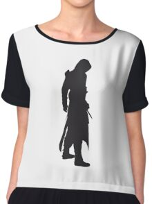 Assassin's Creed altair silhouette black Chiffon Top