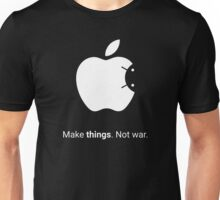 Android Apple - Make things. Not War. Unisex T-Shirt
