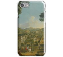 Giovanni Paolo Panini PIACENZA  ROME AN EXTENSIVE LANDSCAPE WITH VILLAS AND FIGURES iPhone Case/Skin
