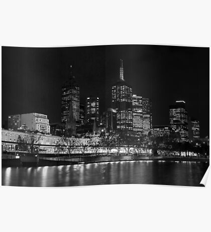 0353 Melbourne by Night Poster