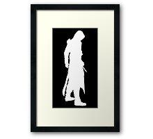 Assassin's Creed altair silhouette black Framed Print