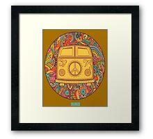 HIPPIE WAGON Framed Print