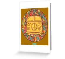 HIPPIE WAGON Greeting Card