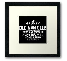 Grumpy Old Man Framed Print