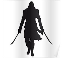 Assassin's Creed edward kenway silhouette black Poster