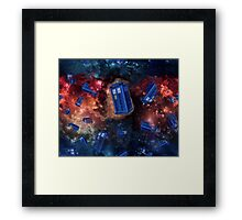 Police Box in Space Framed Print