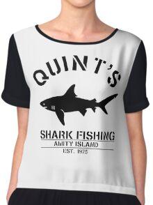 Quint's Shark Fishing Chiffon Top