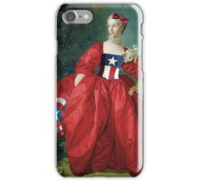 Lady Captain America, 18th Century Style iPhone Case/Skin