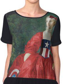 Lady Captain America, 18th Century Style Chiffon Top