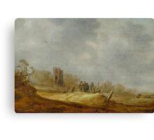 GOYEN, JAN VAN (Leiden  Haag) Dune landscape with the Eik en Duinen ruins Canvas Print