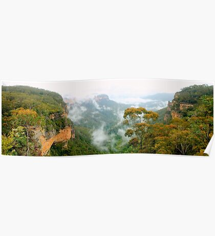 Misty Jamison Valley panorama Poster