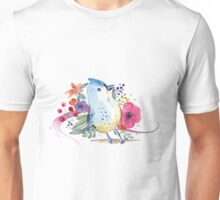 Paradise Bird Watercolor Illustration Unisex T-Shirt