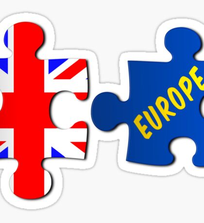 Referendum Jigsaw Puzzle Union Jack and Europe Sticker