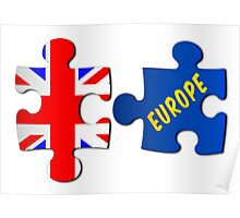 Referendum Jigsaw Puzzle Union Jack and Europe Poster
