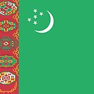 Turkmenistan Flag Stickers by Mark Podger