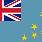 Tuvalu National Flag and Ensign Stickers by Mark Podger