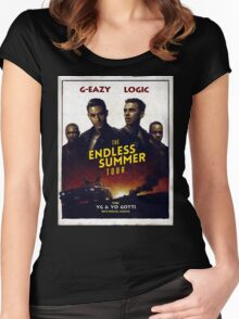 G-Eazy + Logic The Endless Summer Tour Women's Fitted Scoop T-Shirt