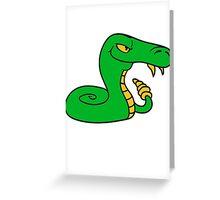 rattlesnake poisonous nasty bite dangerous comic cartoon snake Greeting Card