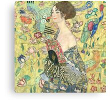 Gustav Klimt (Austrian, ), Lady with Fan Canvas Print