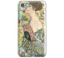 Gustav Klimt (Austrian, ), Lady with Fan iPhone Case/Skin
