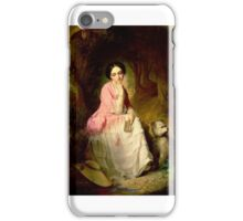 Gyorgyi Giergl Alajos, Woman Seated in a forest glade iPhone Case/Skin