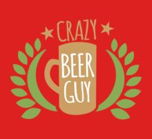 Crazy Beer Guy One Piece - Short Sleeve