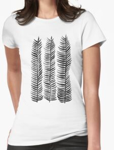 Black Seaweed Womens Fitted T-Shirt