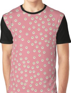 Random Lazy Daisy in Pink Graphic T-Shirt