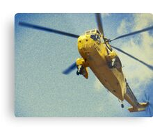 Sea King helicopter fly over Metal Print
