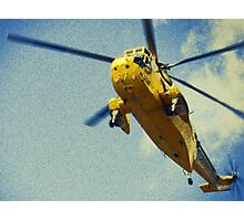 Sea King helicopter fly over Photographic Print