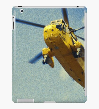 Sea King helicopter fly over iPad Case/Skin