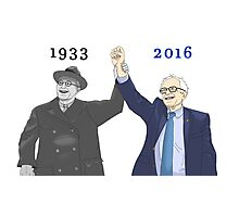 Franklin D. Roosevelt & Bernie Sanders | 1933 2016 Years Photographic Print