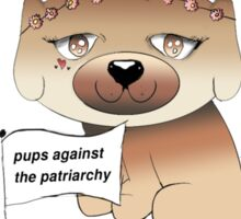 Pups Against The Patriarchy Feminism Canine Print Sticker