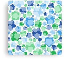 tender blue floral pattern Canvas Print