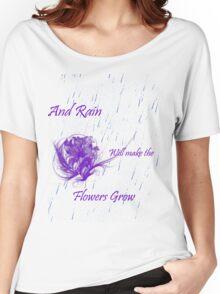 Flowers grow Women's Relaxed Fit T-Shirt