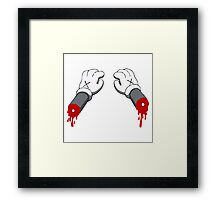 Cut Your Hand Framed Print