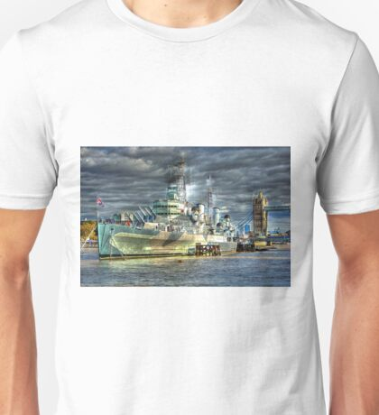 HMS Belfast and Tower Bridge Unisex T-Shirt
