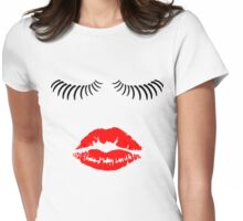 Eyelashes and Kiss Womens Fitted T-Shirt