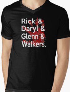 Rick & Daryl & Glenn & Walkers. Mens V-Neck T-Shirt