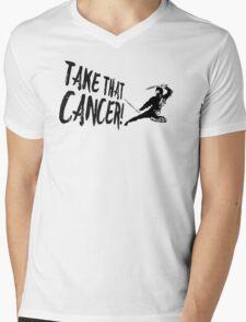 Cancer Ninja Mens V-Neck T-Shirt