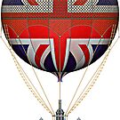Steampunk Union Jack Vintage Hot Air Balloon by Steve Crompton