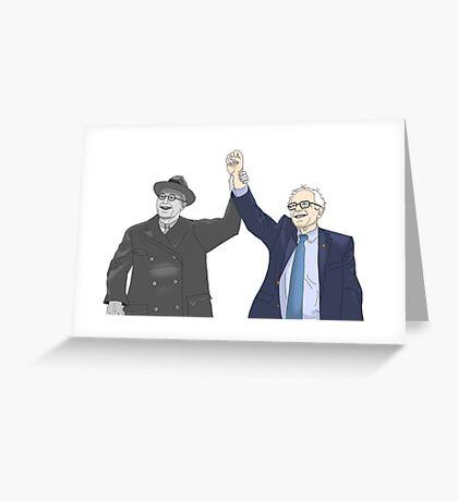 Franklin D. Roosevelt & Bernie Sanders Greeting Card