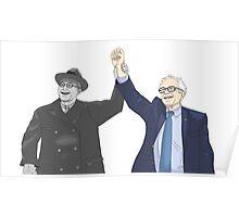 Franklin D. Roosevelt & Bernie Sanders Poster