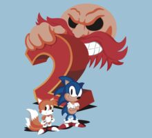 Sonic The Hedgehog 2 Cover Art Kids Tee
